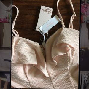 NWT Candie's Blush Strapless Mini Dress